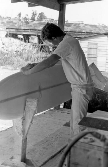 Ryan Dotson, Sanding at Hansen's, Cardiff 1964
